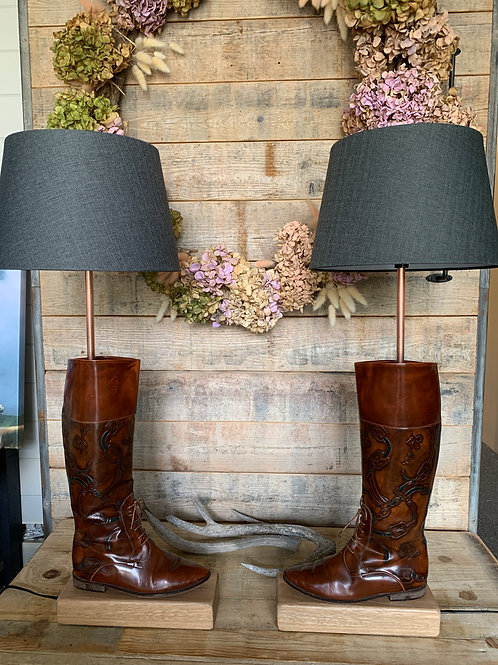 Equestrian Style Boot lamps