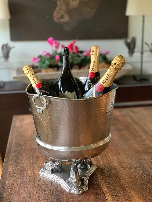 """Three Fishes"" champagne bucket"