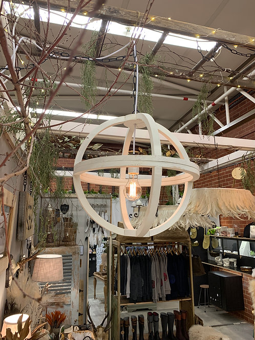 timber chandelier - small