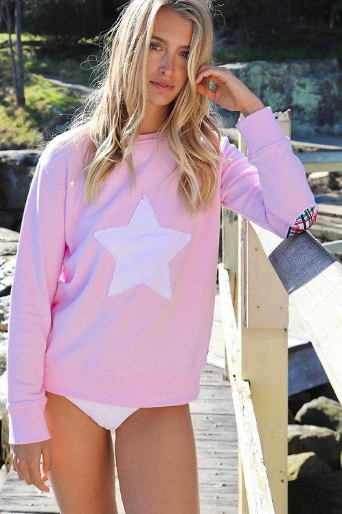 Bright Plaid Star - Powder Pink