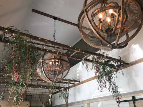Timber wire chandelier theinspiredpaddock stunning chandelier lights made from timber wire measuring approx 850mm in diameter these are quite large and require quite high ceilings can be also aloadofball Choice Image