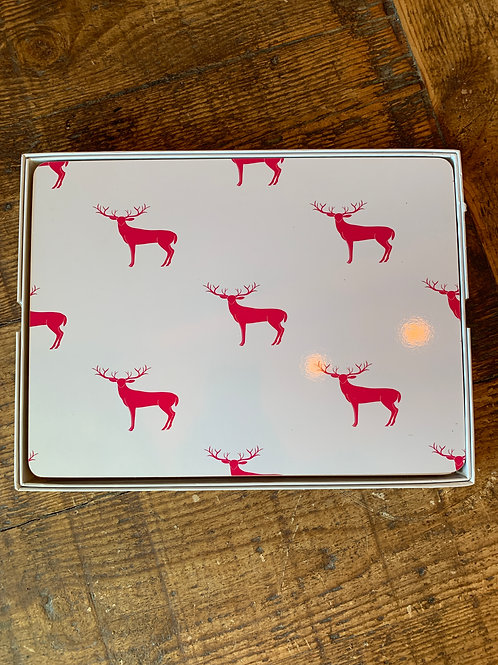 Pink Stag Placemats - set of 4