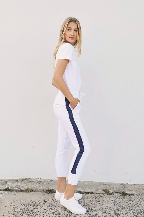 Tracky - White + Old Navy Stripe