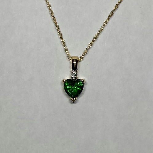 14k emerald heart shape pendant magical creations jewelry 14k emerald heart shape pendant aloadofball Images