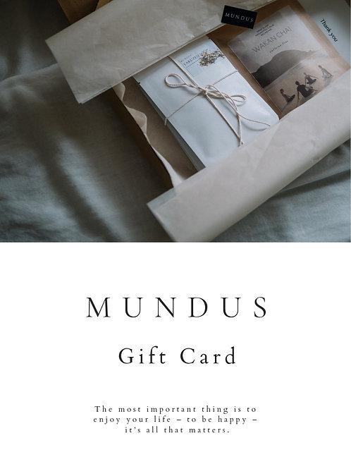MUNDUS Gift Card