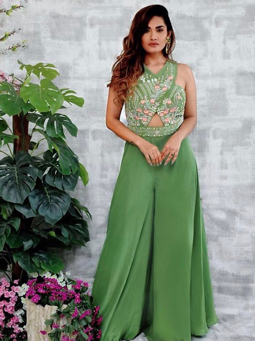 Moss green - jumpsuit style