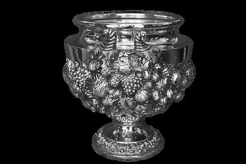 Fruttiera Centro-tavola decoro frutta in argento massiccio
