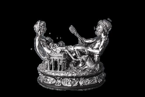 Saliera di Benvenuto Cellini riproduzione in argento
