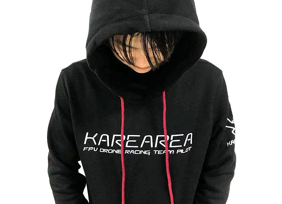 KAREAREA RACING TEAM HOODIE T-SHIRT BLACK