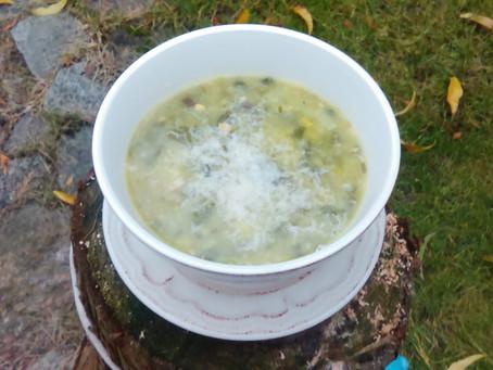 Zupa z ciecierzycy i porów