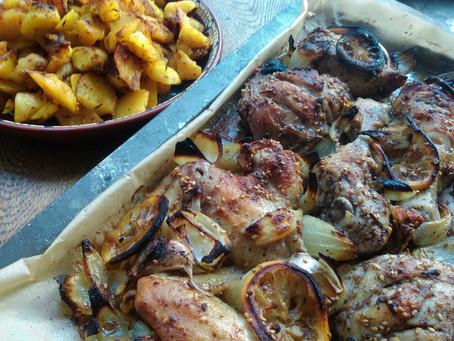 Kurczak z cytryną i za'atarem