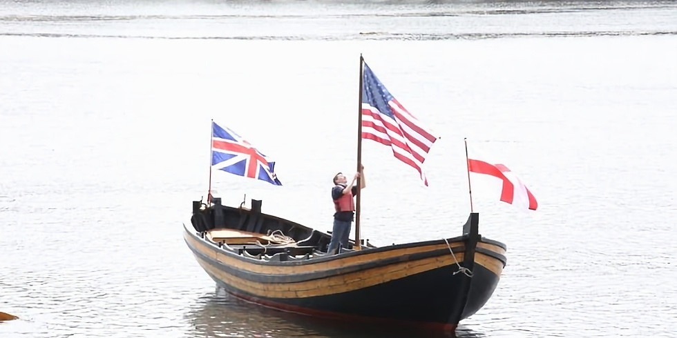 On the Docks with the Mayflower II Shallop Boat!