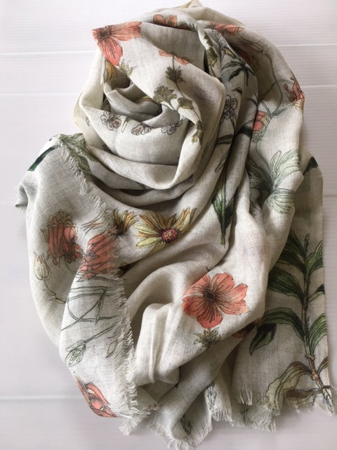 Wildflower printed  stole