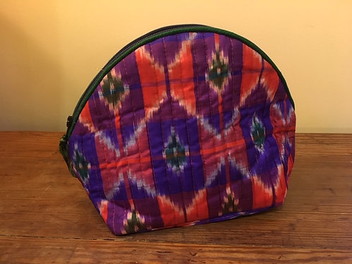 Up cycled silk saree Shell shaped make up bag