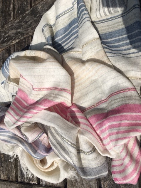 Affordable Striped cotton stole