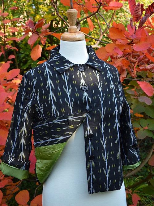 Cotton Ikat weave jacket