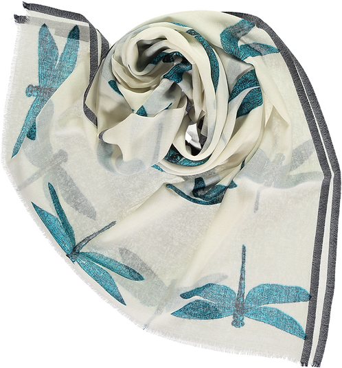 Lightweight stole with dragonfly pattern