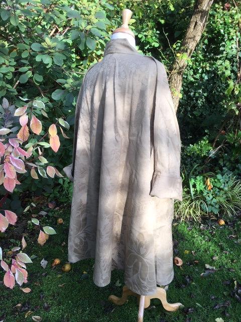 Wool  jacquard swing coat