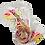 Thumbnail: Wild flower print chiffon scarf