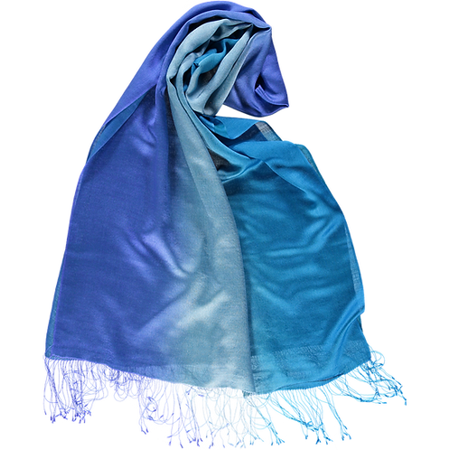 Ombre Silk and Wool Stole