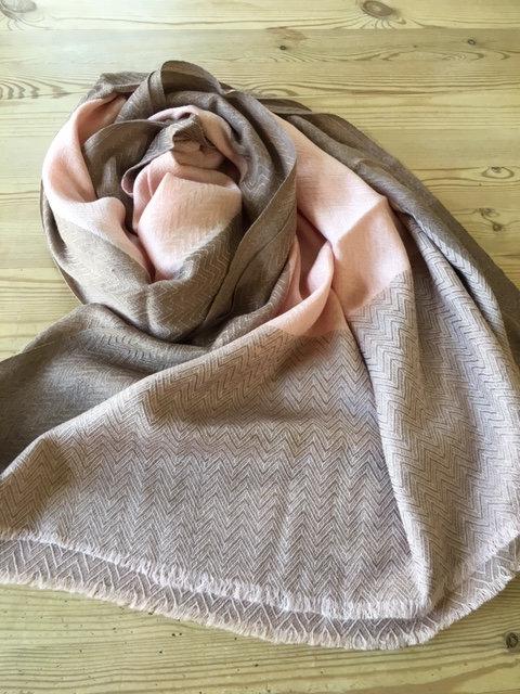 Fine wool chevron weave stole