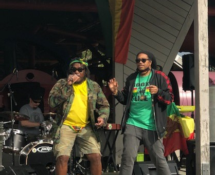 Mista Chatman longside Selassie I Soldier at Reggae In the Park