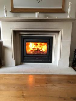 Inset woodburner