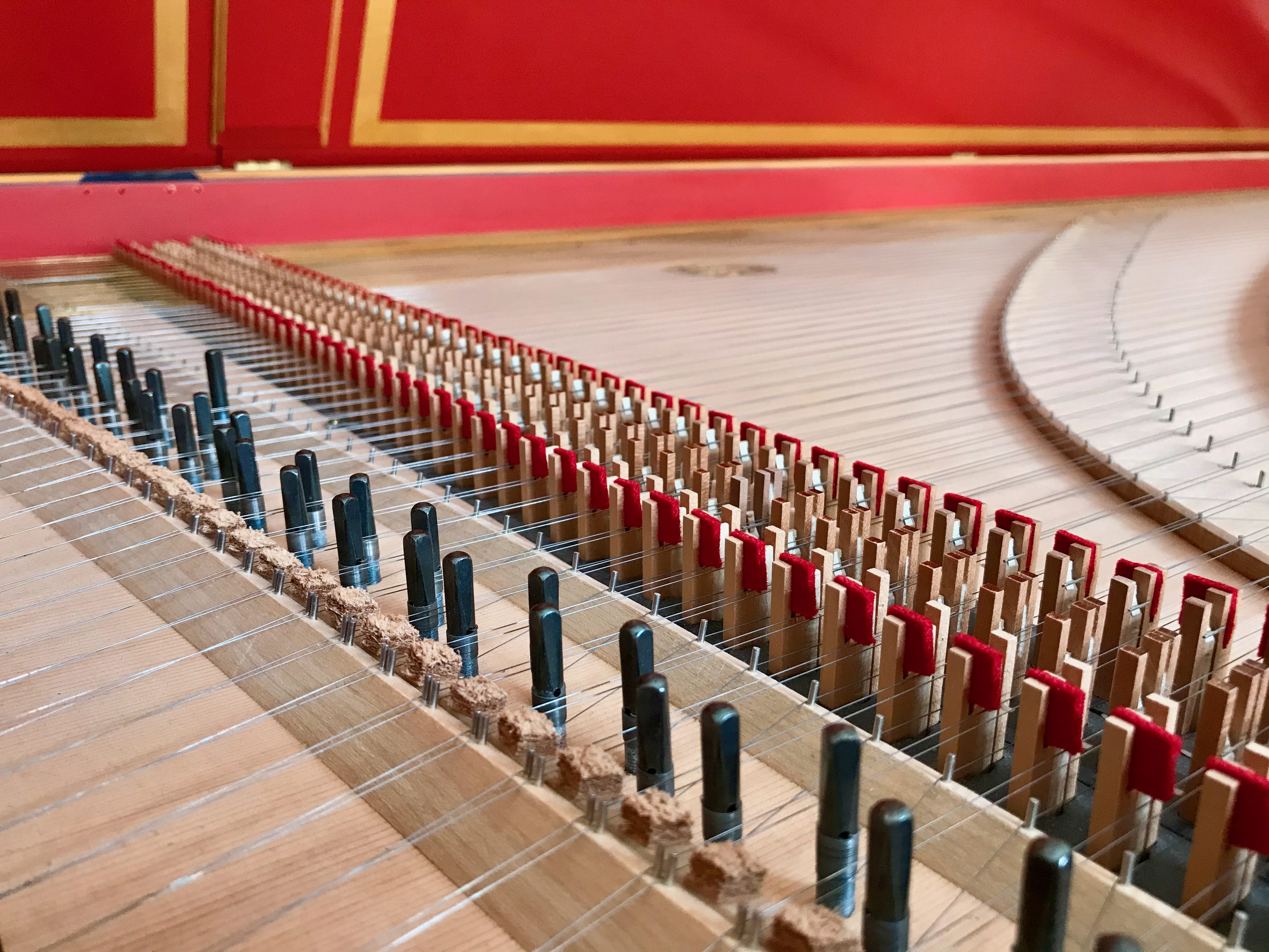 Red harpsichord, Continuo Lines