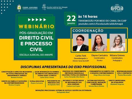 2o Webinário da Pós | Direito Civil, Eixo Profissional