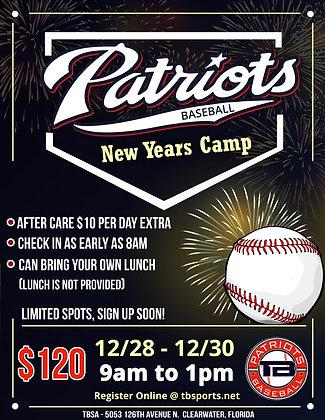 New Years Camp 2020 (12/28-12/30)