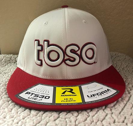 """Hat """"TBSA"""" (White/Red Bill)"""