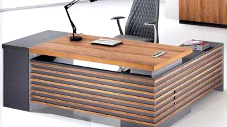 Desk + Side Drawers+ shelves+ Leaf+ 8 Shelves