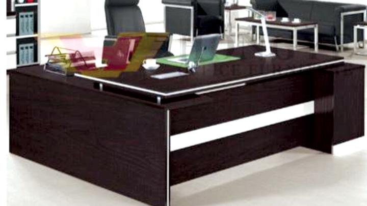 Desk + Side Drawers+ 8 shelves + Leaf