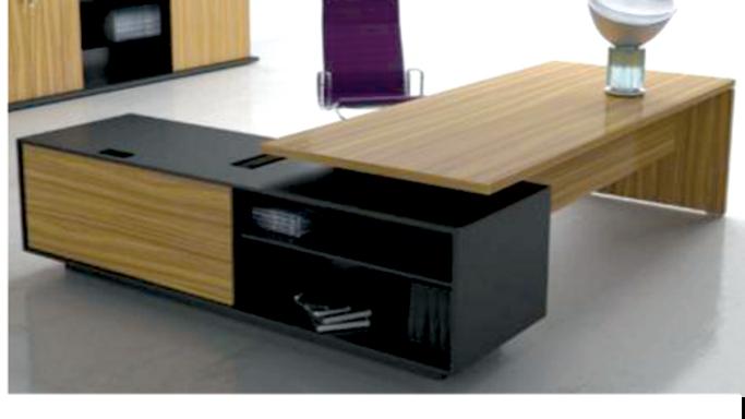 Desk + Side Drawers+ shelves+ Leaf