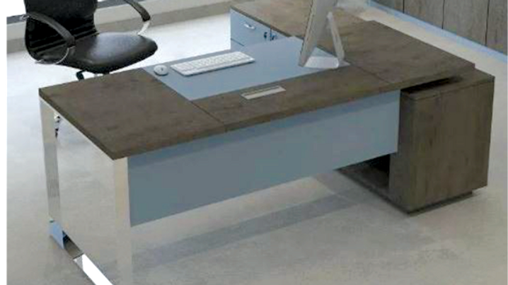 Desk(1.8*0.8M) + Side Drawers+ shelves+ Leaf