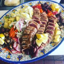 Seared Tuna Nicoise  salad for a pool ge