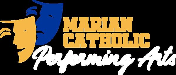 Marian Performing Arts Reversed Logo.png