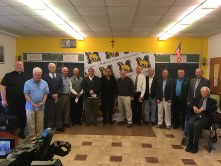 1971 State Champs Honored at Mass