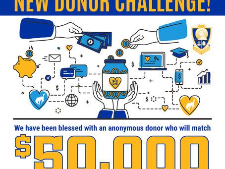 Marian Catholic New Donor Challenge!
