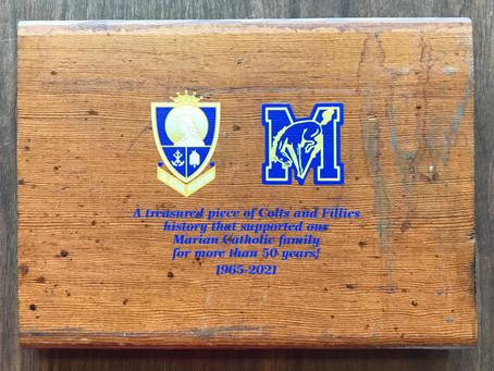 Marian Catholic Bleacher Plaque Fundraiser