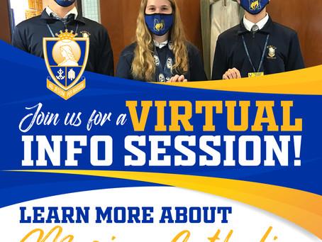 Marian Catholic Virtual Info Sessions