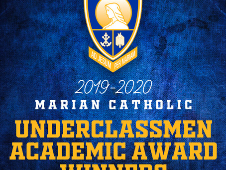 2019-2020 Underclassmen Academic Award Winners