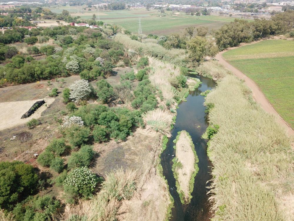 Aerial view of Apies River 2019