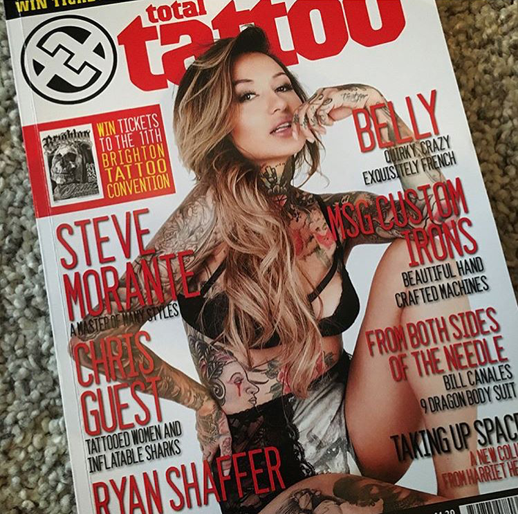 Steve Morante  in Total Tattoo Mag