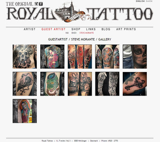 Steve will be guesting at Royal Tattoo, Denmark.  Feb 18th-20th