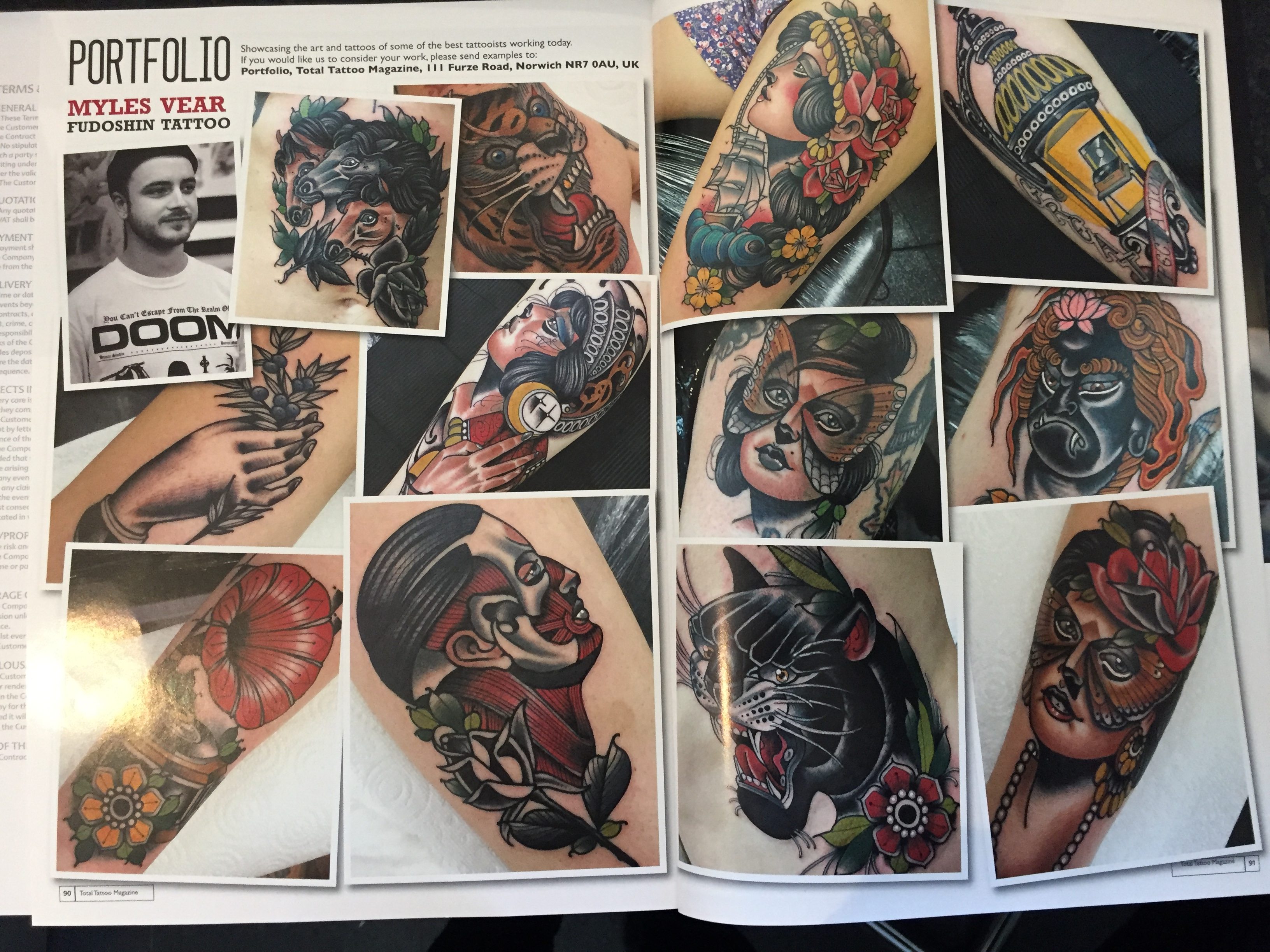 Myles in Total Tattoos Magazine