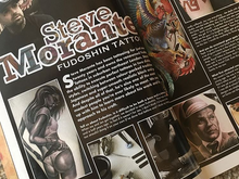 Amazing to have Steve feature in Total Tattoo Magazine, Dec 2017 edition