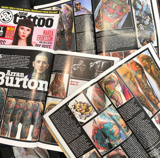 Check out the spread on Arran Burton in Total Tattoo Magazine Nov 2017 edition!