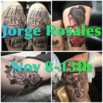 Returning guest artist, Jorge Rosales