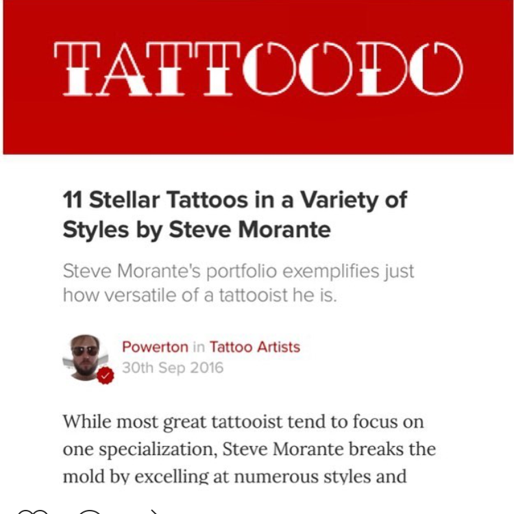 Article on Steve by Tattoodo